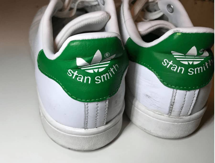Adidas Stan Smith Sneakers White Green Back With a Few Strach