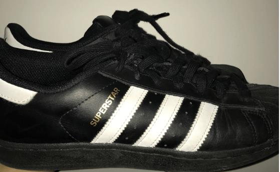 Adidas Superstar Black 3 Stripes Wide
