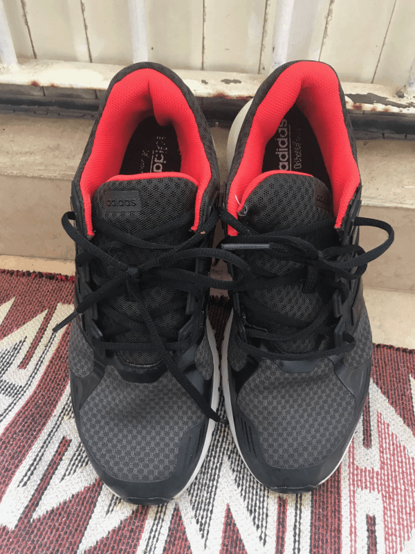 Adidas Duramo 8 Black Front View - After Machine Wash