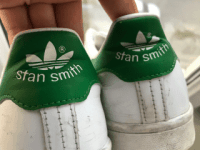 Adidas Stan Smith Green Back View - After 1 Year