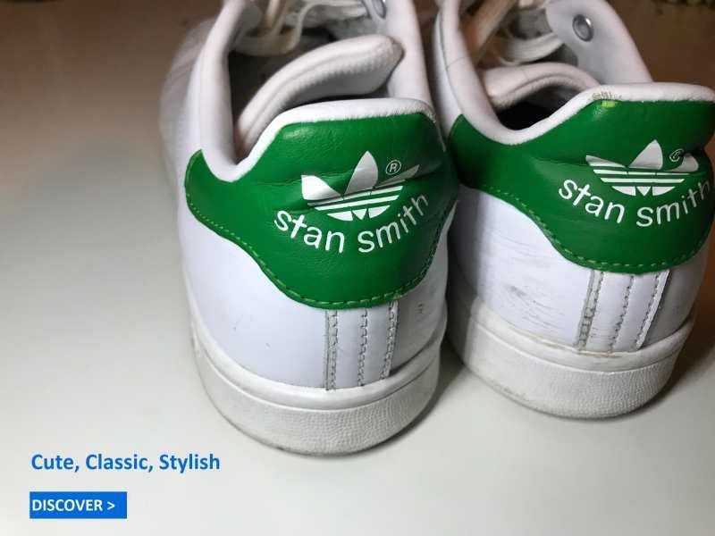 Bild von Adidas Stan Smith Frauen grün, echte ikonische zeitlose Schuhe.