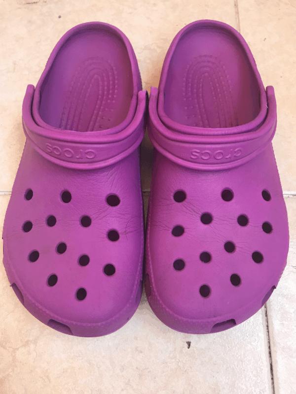 Purple Crocs - After 3 Years - Purple  Crocs front view